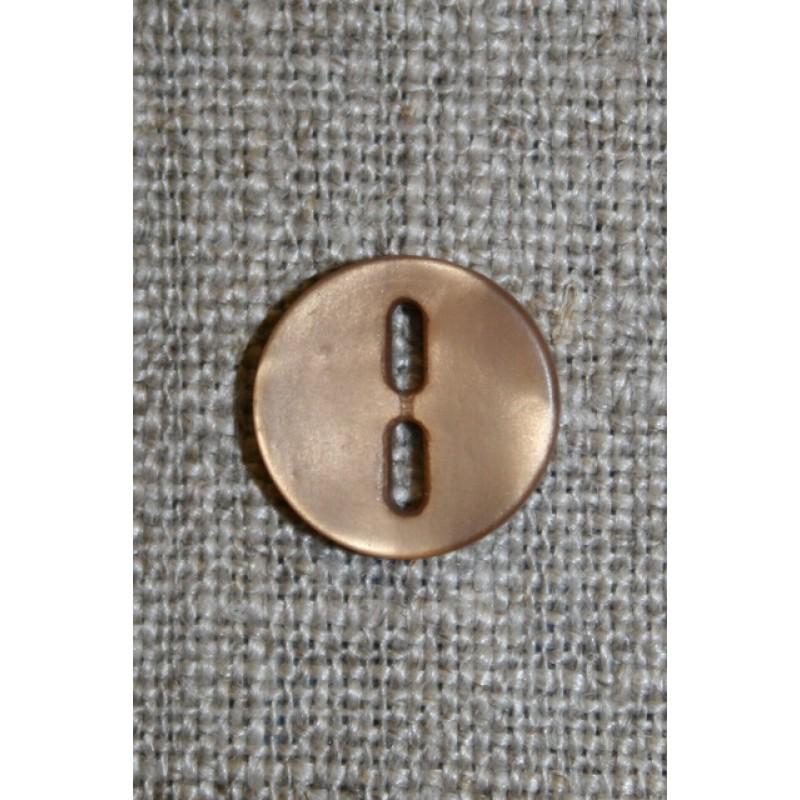 Lysebrun knap m/aflange huller, 12 mm.-31