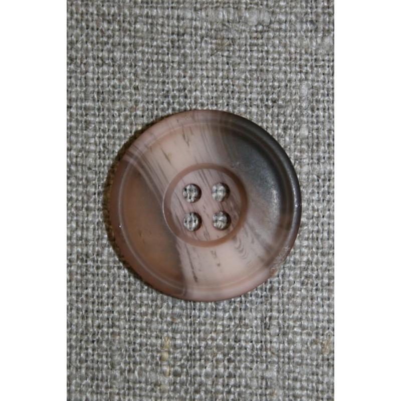 4-huls knap brun/pudder/beige-31