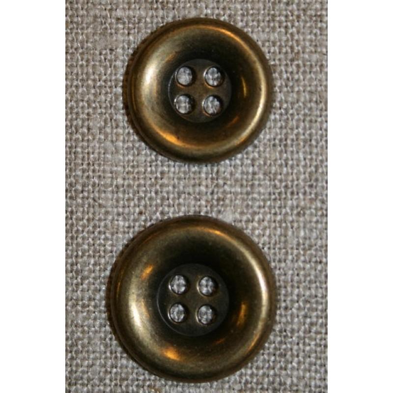 4-huls gl.guld knap, 15 mm.-31