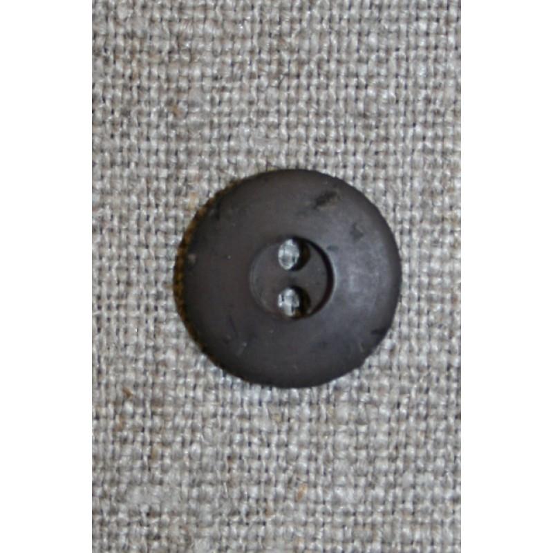Brun 2-huls knap, 15 mm.-31