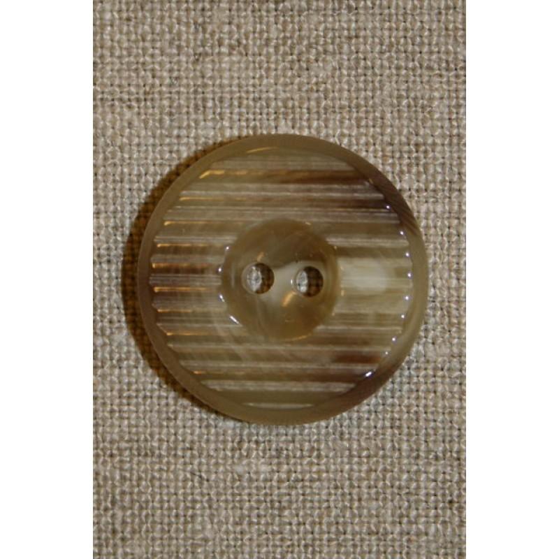 Beige rillet knap 18 mm.-31