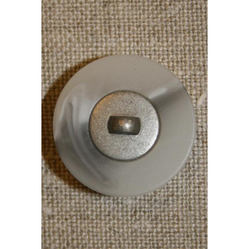 Lysegrå m/sølv midte 23 mm.
