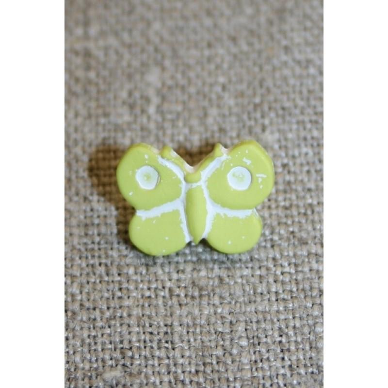 Sommerfugl-knap, lime-31