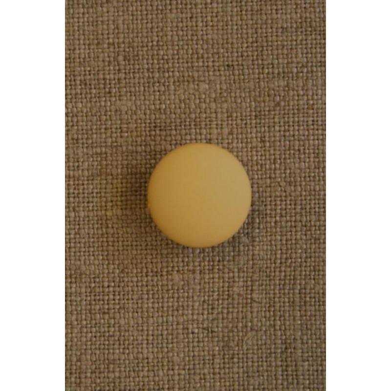 Rund gul knap 15 mm.