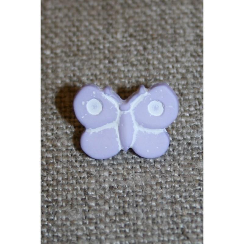 Sommerfugl-knap, lyselilla