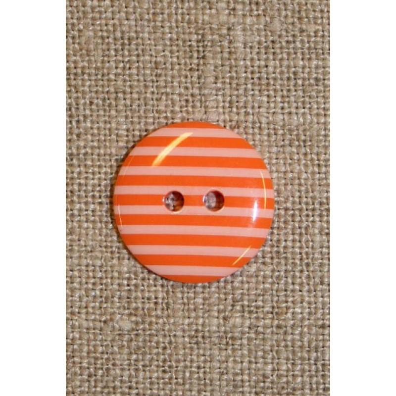 Knap m/striber orange