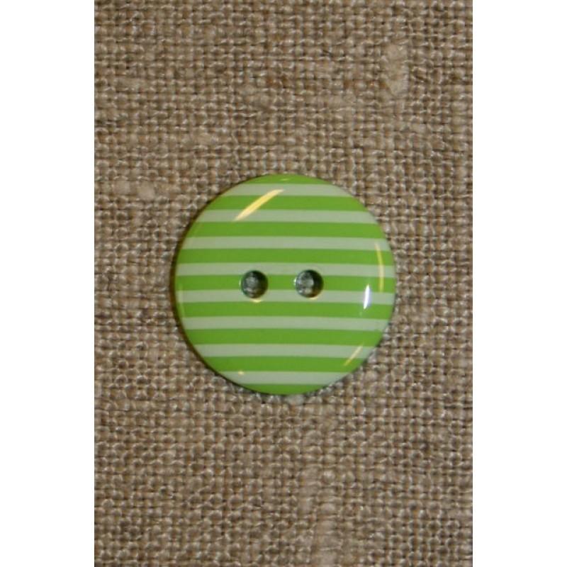 Knap m/striber lime-31