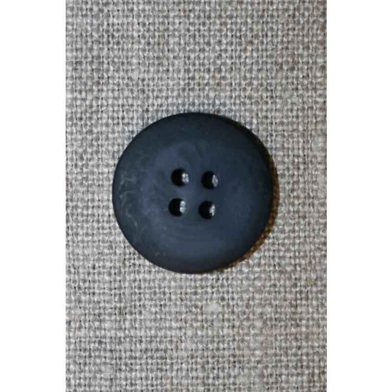 Mørkeblå 4-huls knap, 20 mm.-31