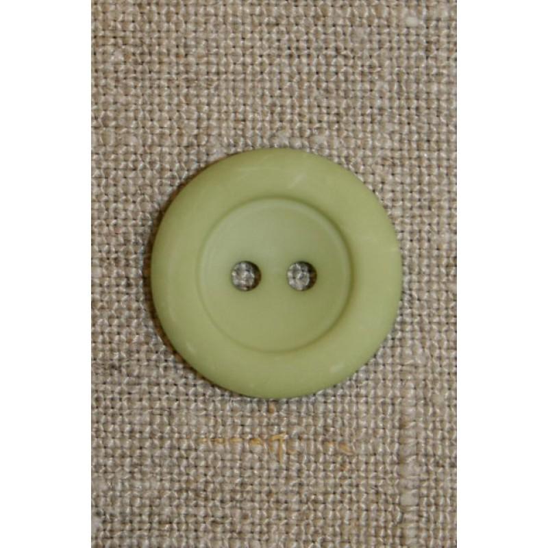 Mintgrøn 2-huls knap-31