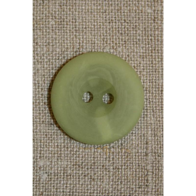 Mosgrøn 2-huls knap, 18 mm.-31
