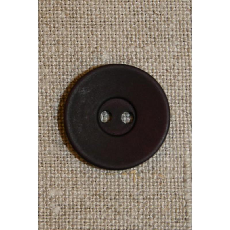 Bordeaux 2-huls knap 20 mm.