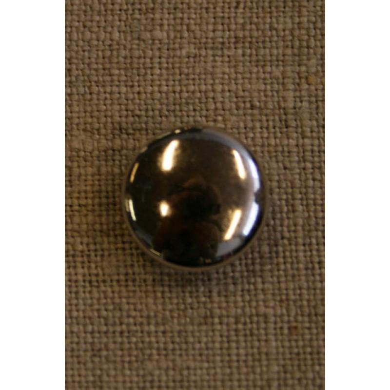 Sølvknap 15 mm.