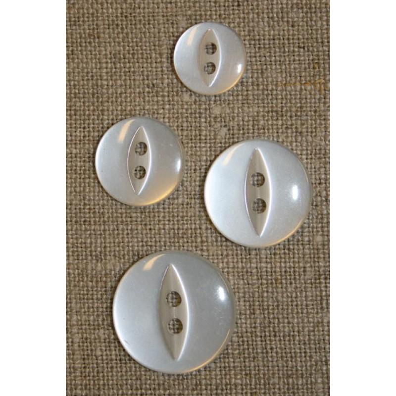 Blank 2-huls knap hvid 19 mm.-35