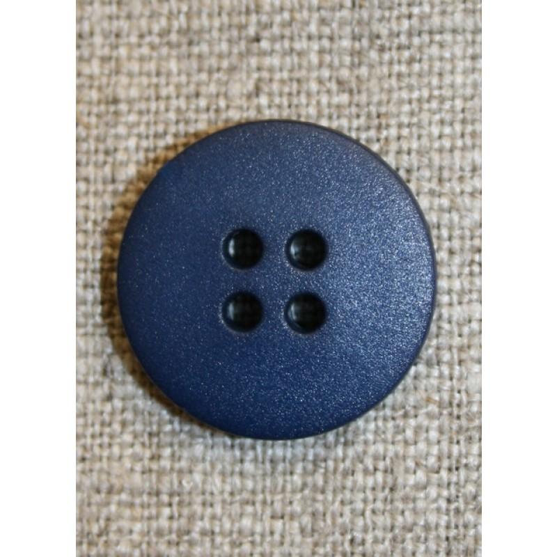 Mørkeblå 4-huls knap, 20 mm.