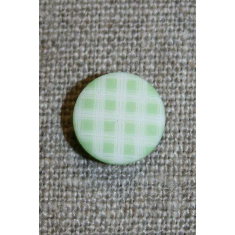 Ternet knap lysegrøn & hvid
