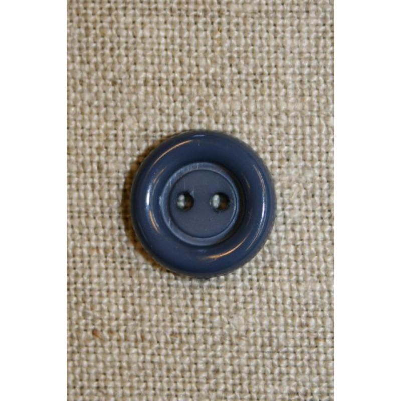 Grå/blå 2-huls knap 12 mm.-31