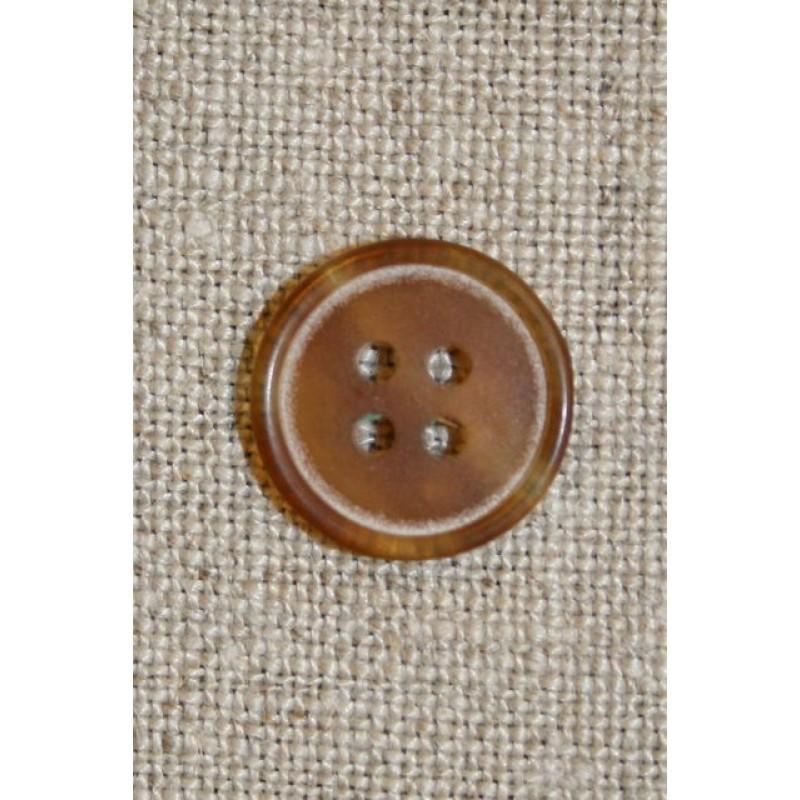 Beige 4-huls knap 15 mm.-31