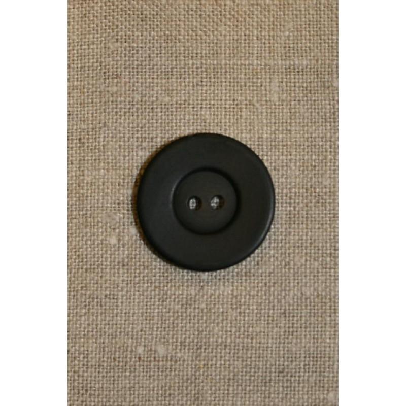 Sort 2-huls knap 25 mm