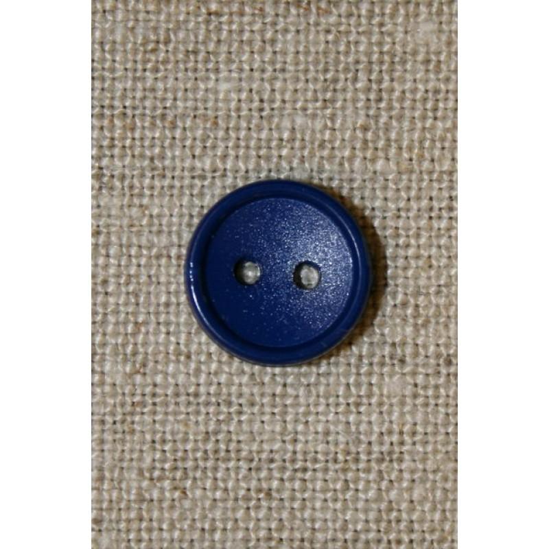 Mørkeblå 2-huls knap-31
