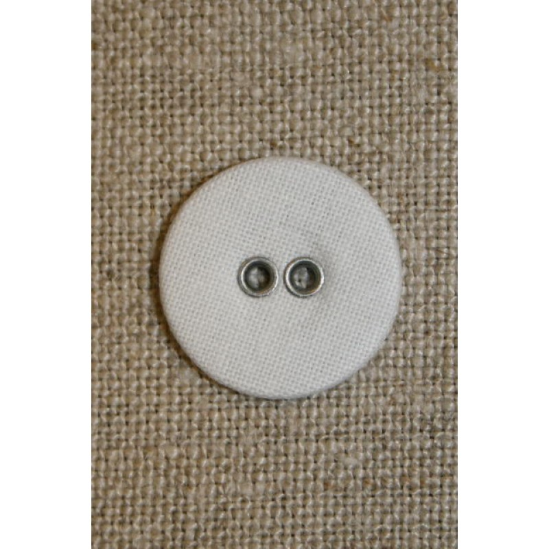 Hvid lærreds knap 18 mm.-31