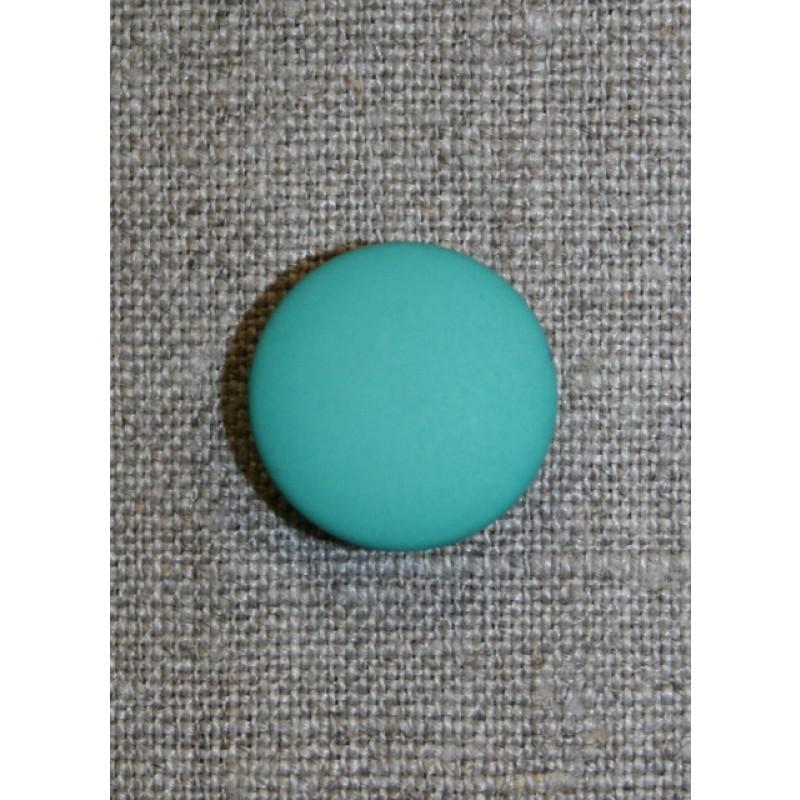 Irgrøn rund knap, 20 mm.