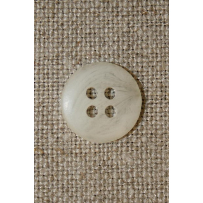 Off-white meleret knap 12 mm.