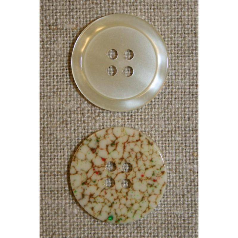 Off-white knap m/mønstret bagside-31