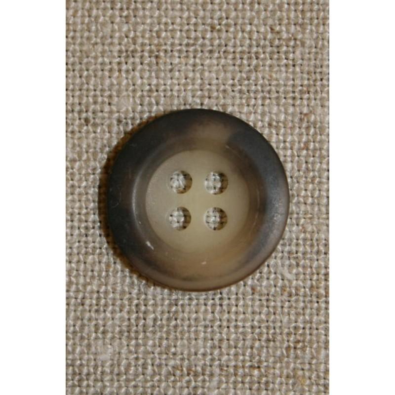 4-huls knap, brun/beige-31