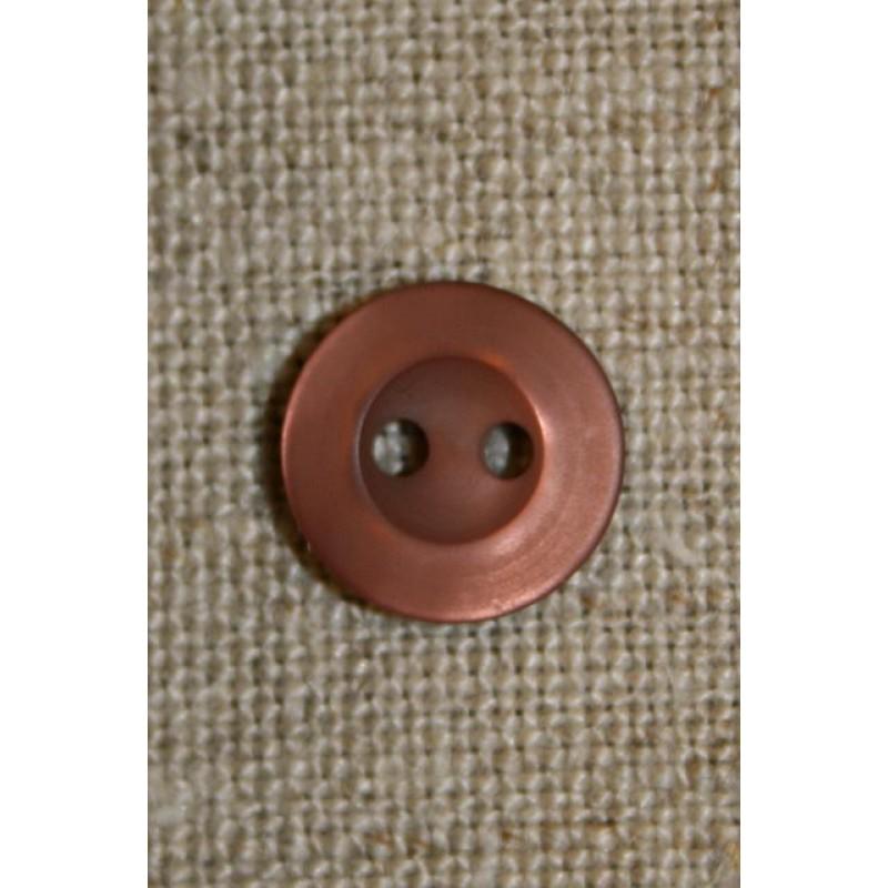 2-huls knap brun/rosa 10 mm.-33