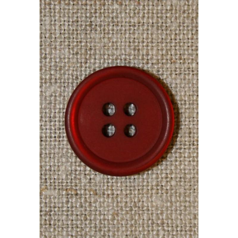 Rød 4-huls knap 17 mm.