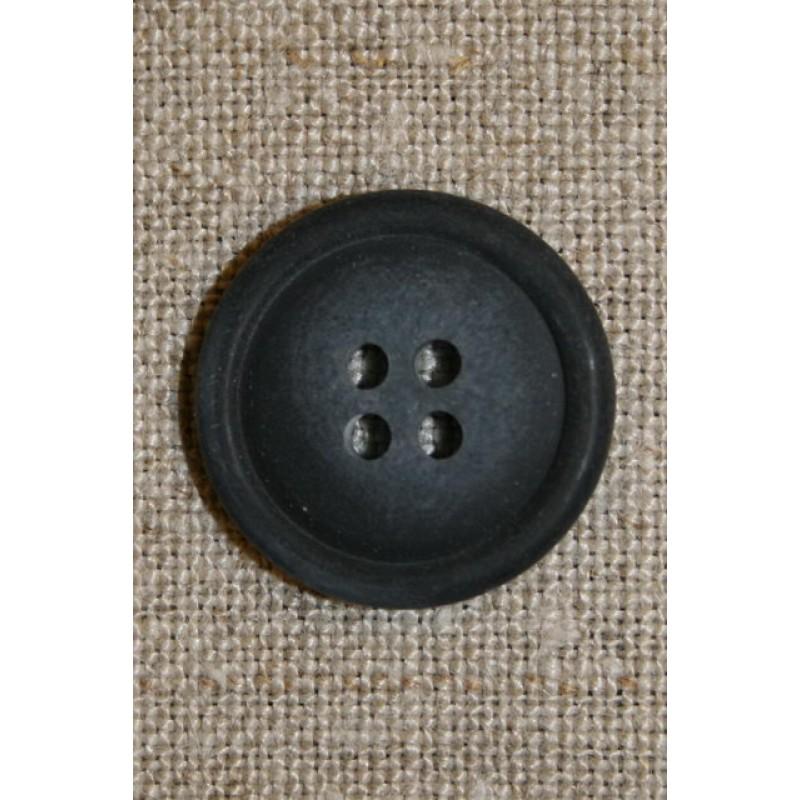 Blå meleret 4-huls knap