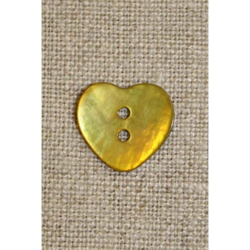 Perlemors hjerte, gul/lime