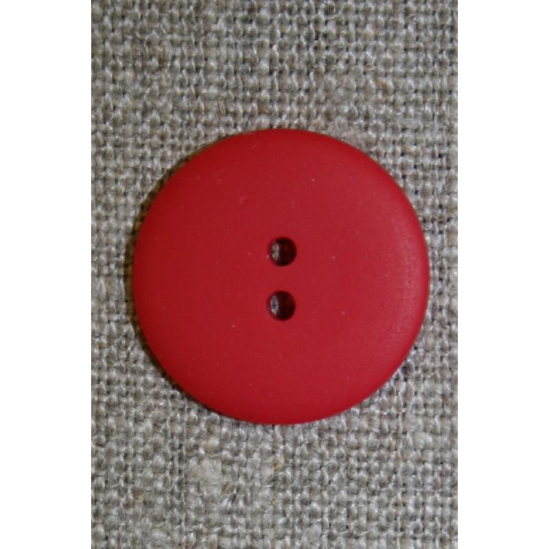 Rød 2-huls knap, 20 mm.-31