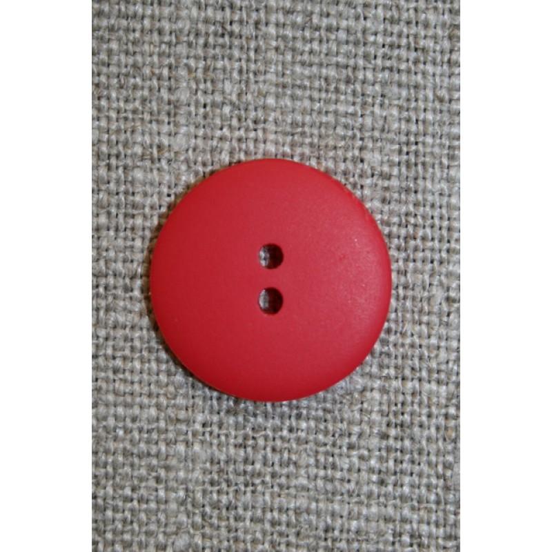 Rød 2-huls knap, 17 mm.-31