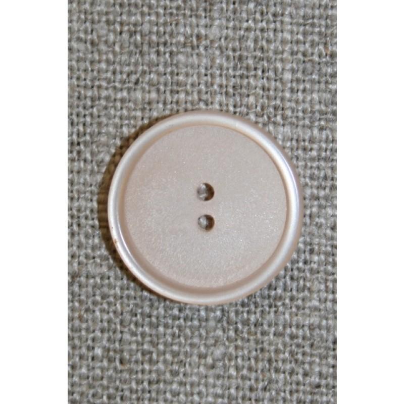 Beige 2-huls knap, 18 mm.