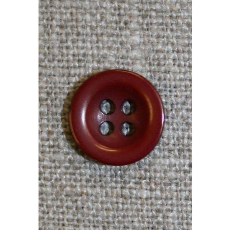 Bordeaux 4-huls knap, 12 mm.-31