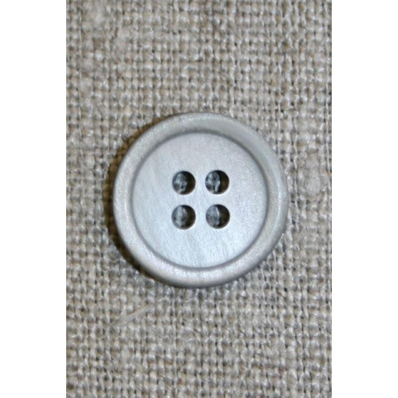Lysegrå 4-huls knap, 15 mm.-31