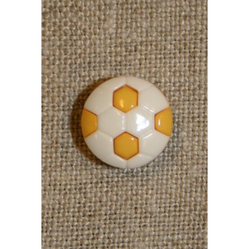 Fodbold knap gul/hvid-31
