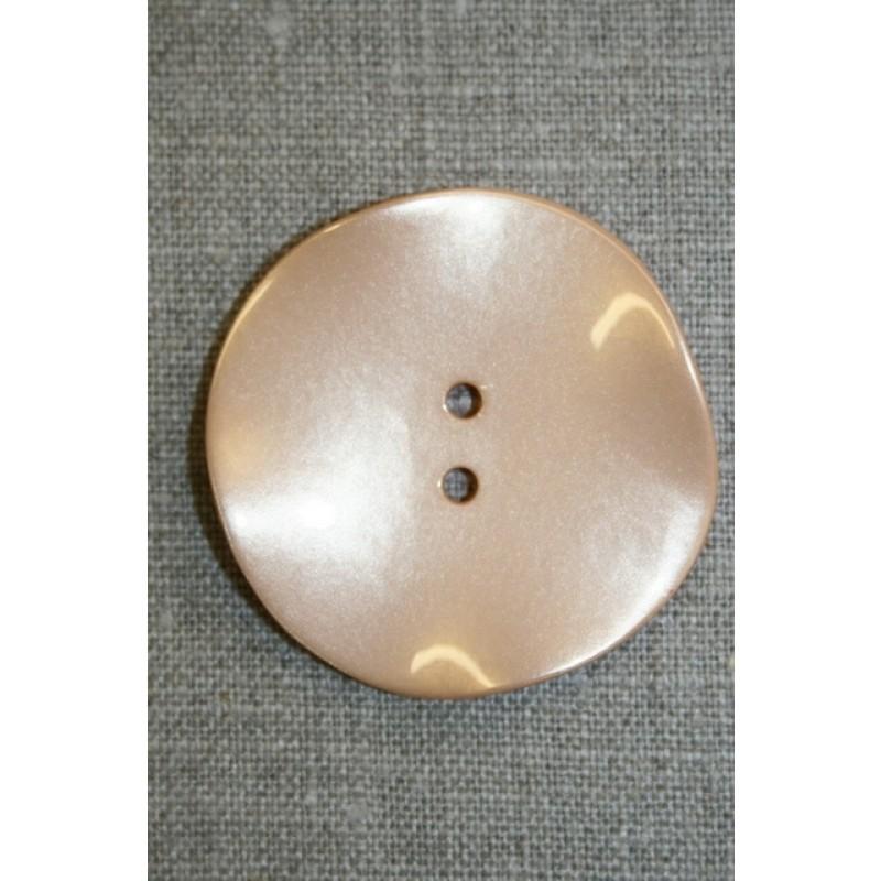 Skæv knap, pudder, 44 mm.