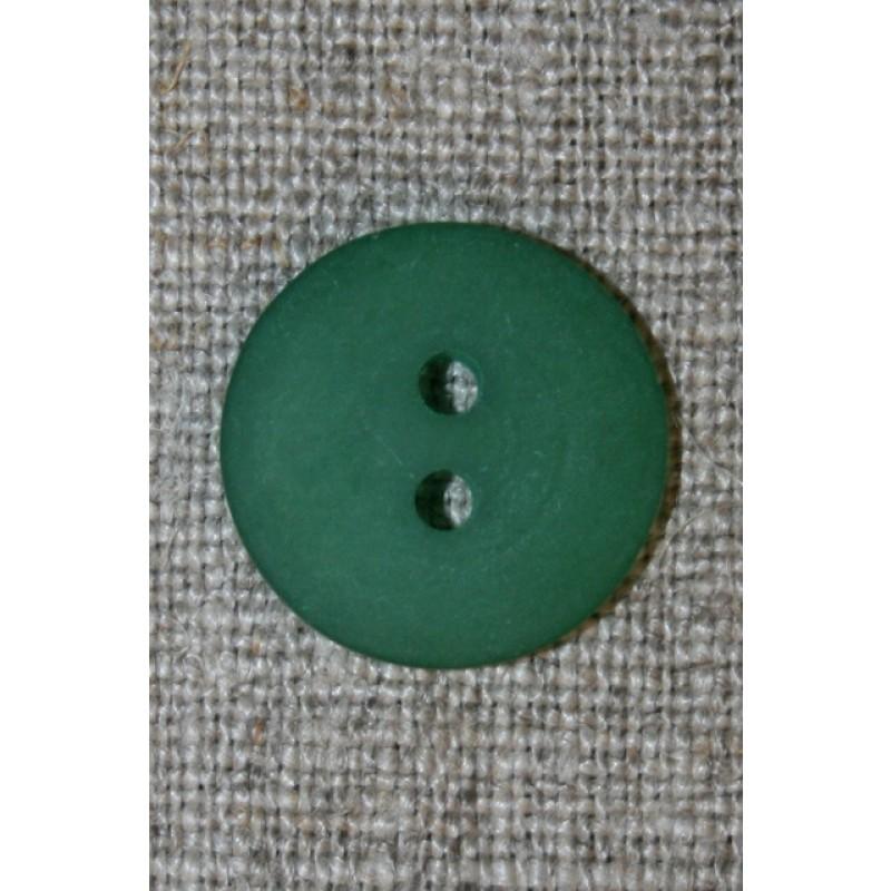 Grøn 2-huls knap, 18 mm.-33