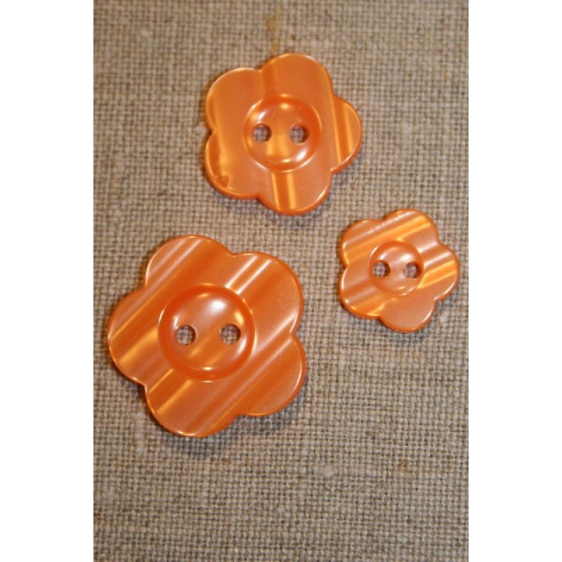 Blomsterknap i orange 25 mm