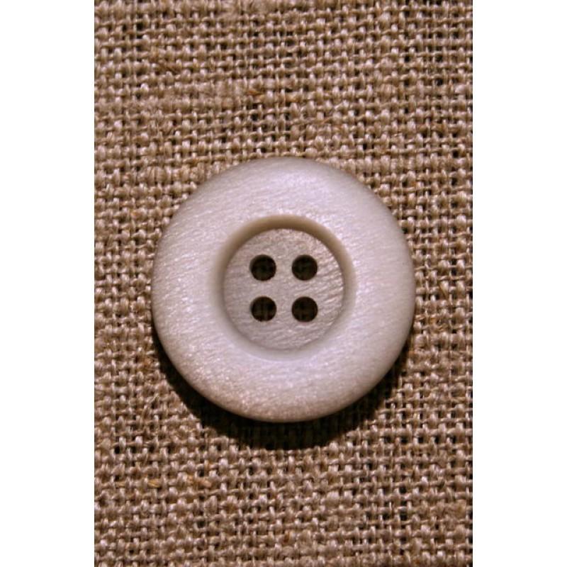 Lysegrå/off-white 4-huls knap, 23 mm.-31