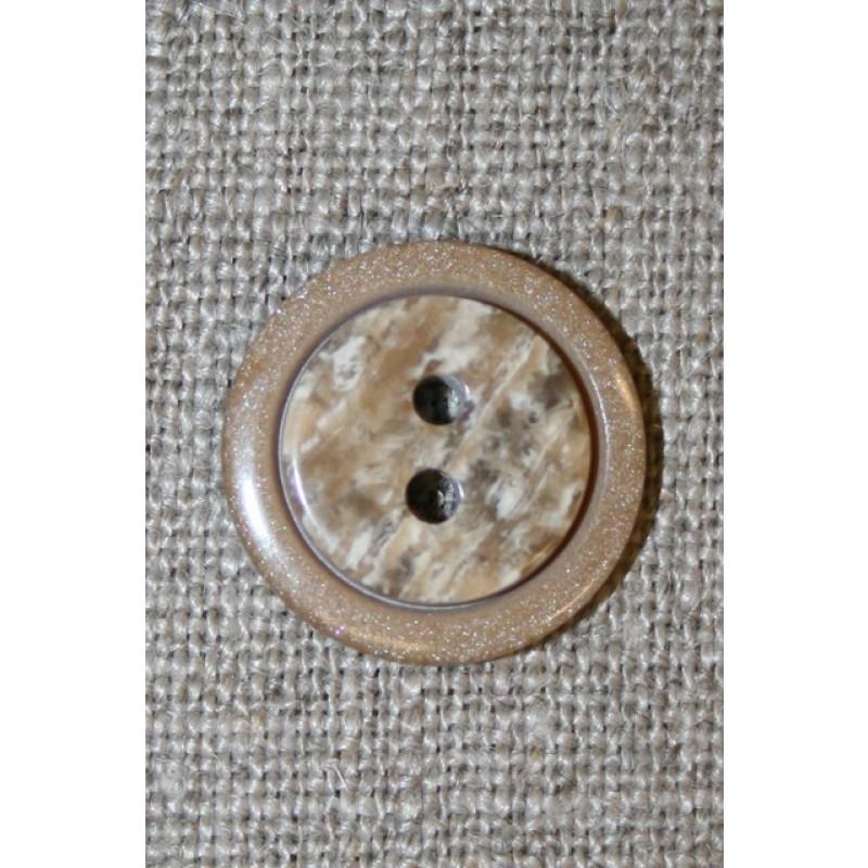 2-huls knap lysebrun m/meleret midte-31