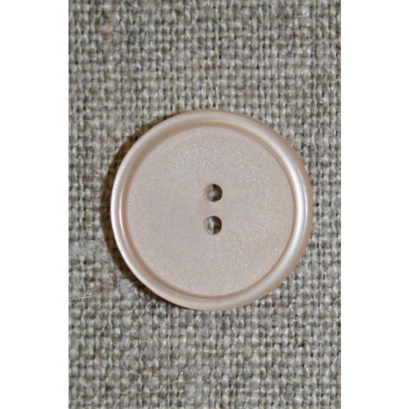 Creme/pudder 2-huls knap, 20 mm.
