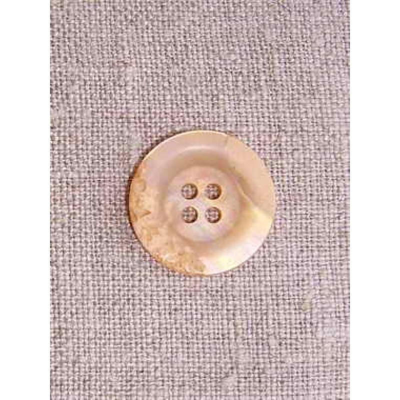 Laks/beige krakeleret knap 18 mm.-33