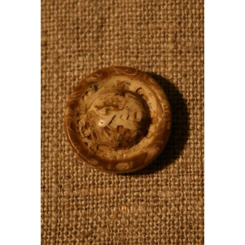 Off-white/brun knap, 18 mm.-31