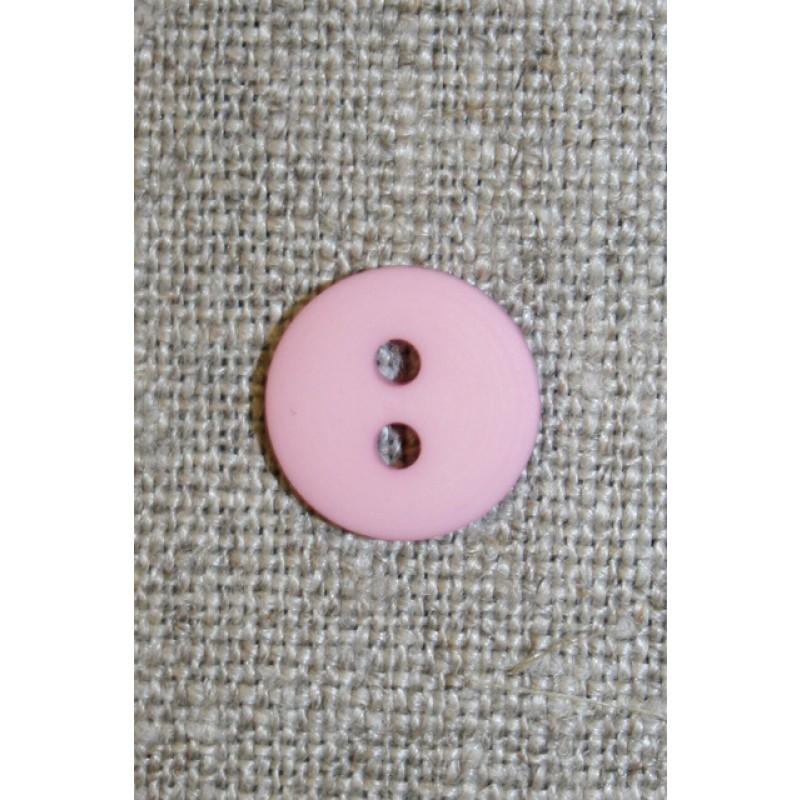 Lys rosa 2-huls knap, 15 mm.-31
