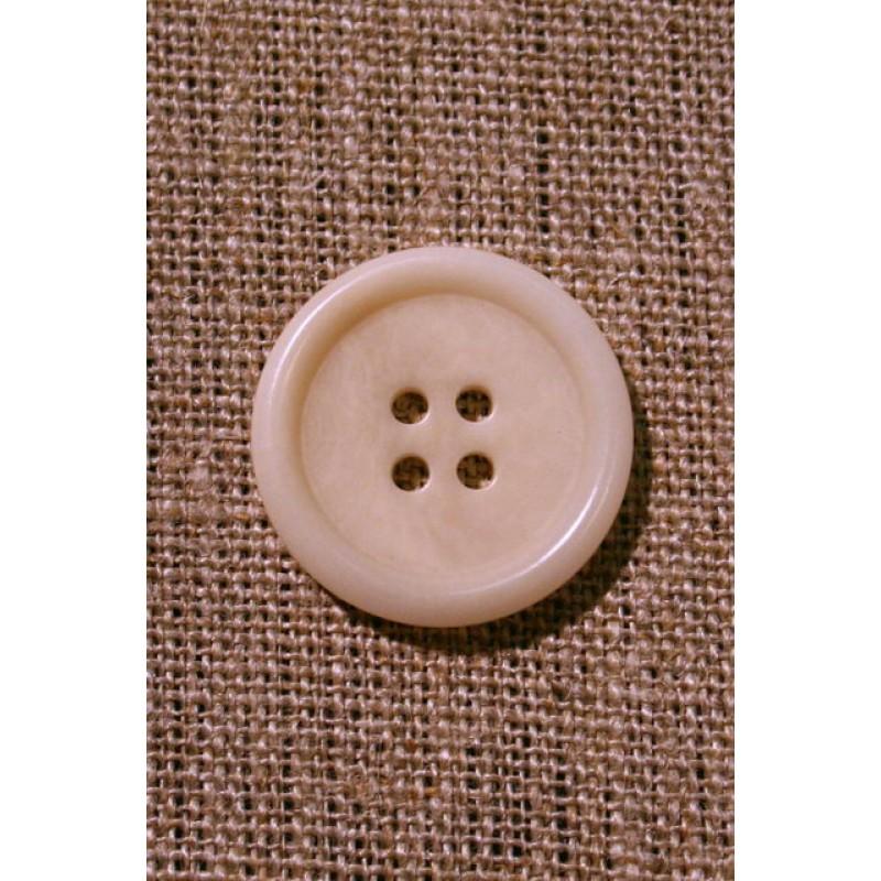 Off-white 4-huls knap, 24 mm.