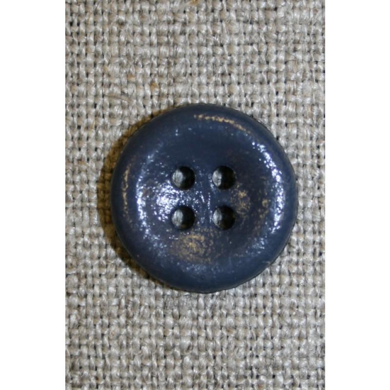 Mørkegrå 4-huls knap, 15 mm.-33