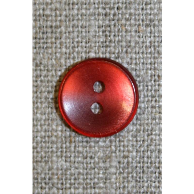 Koral-rød blank knap,-31